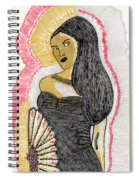 Lady With Fan Spiral Notebook