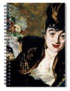 Lady With Fan Portrait Of Marie Anne De Callias Known As Nina De Callias Spiral Notebook