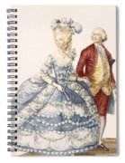 Lady With Her Husband Attending A Court Spiral Notebook