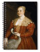 Lady With Heron Spiral Notebook