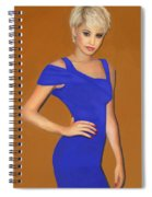 Lady With The Blue Dress Spiral Notebook