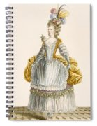 Ladys Ball Gown, Engraved By Dupin Spiral Notebook