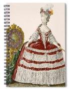 Ladys Court Gown In Dark Cherry Spiral Notebook