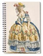 Ladys Elaborate Ball Gown, Engraved Spiral Notebook