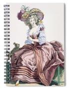 Ladys Elegant Caramel Coloured Satin Spiral Notebook