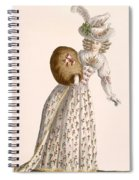Ladys Gown Embroidered With Small Spiral Notebook