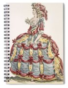 Ladys Gown For Cour A Leiquette Spiral Notebook