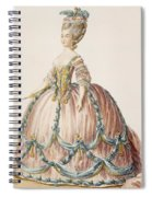 Ladys Gown For The Royal Court Spiral Notebook
