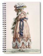 Ladys Summer Walking Gown, Engraved Spiral Notebook