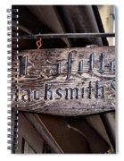 Lafittes Blacksmith Shop Sign Spiral Notebook