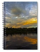 Lagoon Sunset In The Jungle Spiral Notebook