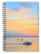 Laguna Madre Fishing At Sunset Spiral Notebook