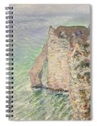 Laiguille And The Porte Daval   Etretat Spiral Notebook
