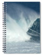 Laird Hamilton Going Left At Jaws Spiral Notebook