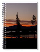 Lake Almanor Sunset Triptych Spiral Notebook