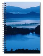 Lake And Moor In Mist Spiral Notebook