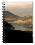 Lake And Town, Umbria, Italy Spiral Notebook