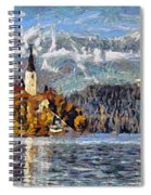 Lake Bled And Mountains Spiral Notebook