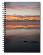 Lake Cassidy Reflections Dramatic Clouds Spiral Notebook