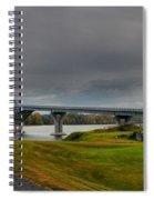 Lake Champlain Bridge Panorama From Crown Point Spiral Notebook