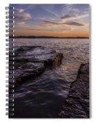 Lake Champlain Sunset Burlington Vermont Oakledge Park Spiral Notebook