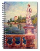 Lake Como View Spiral Notebook