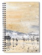 Lake Constance In Winter Spiral Notebook