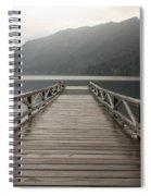 Lake Crescent Dock Spiral Notebook