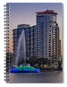 Lake Eola Water Fountain  Spiral Notebook