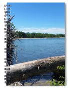 Lake Erie At Sheldon Marsh  Spiral Notebook