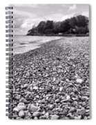 Lake Erie Coast Black And White Spiral Notebook