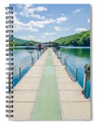 Lake Fontana Boats And Ramp In Great Smoky Mountains Nc Spiral Notebook