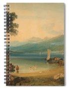 Lake Geneva And Mount Blanc Spiral Notebook