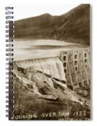 Lake Hodges And Dam San Diego County California  1952 Spiral Notebook