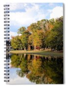 Lake House In Autumn Spiral Notebook