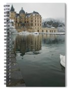 Lake In Front Of A Chateau, Chateau De Spiral Notebook