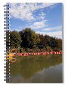 Lake Inlet With Dredger Spiral Notebook