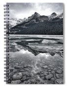 Lake Louise - Black And White #2 Spiral Notebook