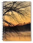 Lake Louise Sunrise Through The Trees Spiral Notebook