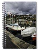 Lake Maggiore Boats Spiral Notebook