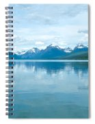Lake Mcdonald Reflection In Glacier  National Park-montana Spiral Notebook