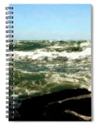 Lake Michigan In An Angry Mood Spiral Notebook