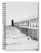 Lake Michigan Lighthouse Spiral Notebook