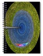 Lake Michigan Polar View Spiral Notebook