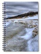 Lake Michigan Shelf Ice Spiral Notebook