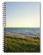 Lake Michigan Shoreline 01 Spiral Notebook