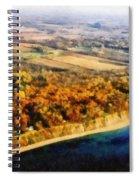 Lake Michigan Shoreline In Autumn Spiral Notebook