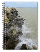 Lake Michigan Splash Spiral Notebook