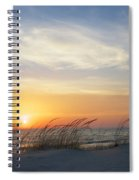 Lake Michigan Sunset With Dune Grass Spiral Notebook