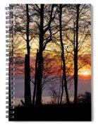 Lake Michigan Sunset With Silhouetted Trees Spiral Notebook